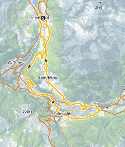 Map / Lenzerheide - Albula