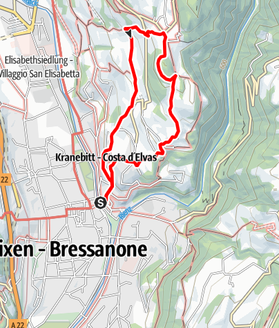 Map / The Archeopfad Archaeological Trail in Brixen