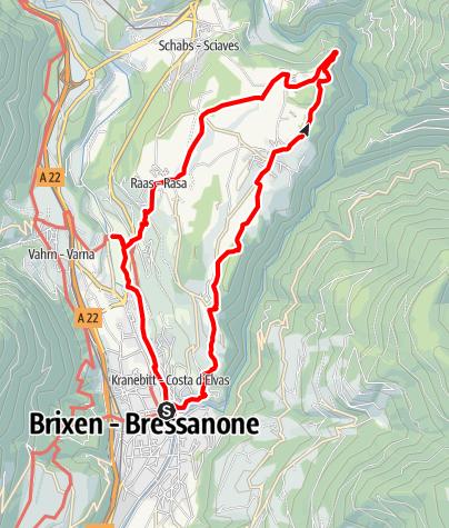 Kaart / Eisacktal Valley Wine and Apple Trail