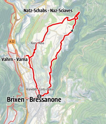 Mapa / Eisacktal Valley Wine and Apple Trail