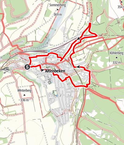 Kaart / GeoTour Paderborner Land: Altenbeken
