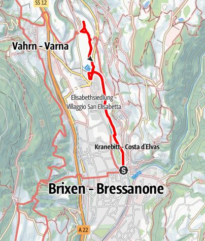 Karte / Von Brixen zum Kloster Neustift