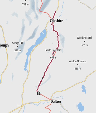 Map / Hiking in the Berkshires: Dalton to Cheshire