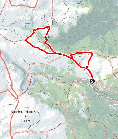 Mappa / Il Sentiero del Pino Mugo (Latschenweg) sull'Alpe di Villandro.