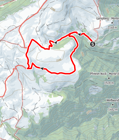 Карта / Vom Kaseregg bei Latzfons auf die Stöfflhütte