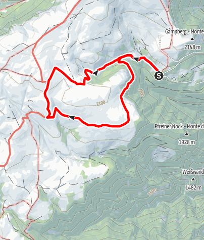 Mappa / Dal parcheggio Kaseregg al rifugio Stöfflhütte