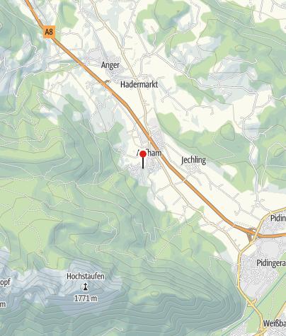 Karte / Pfarrkirche St. Jakobus in Aufham