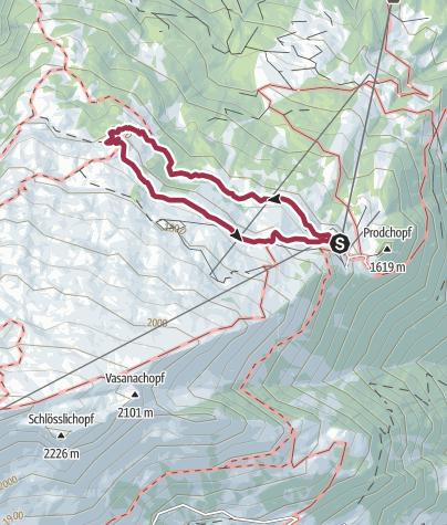 Karte / 12. Nationaler Wandertag: Wanderung 1 - Familienwanderung Pizol