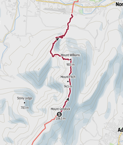 Map / Hiking in the Berkshires: Mount Greylock to Williamstown