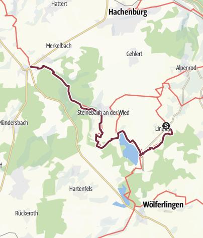 Karte / Wiedweg 01. Etappe Linden - Höchstenbach