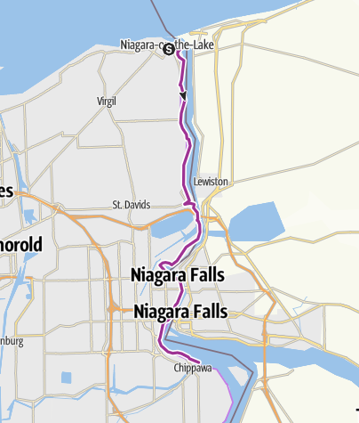 Map / Niagara Biking - Niagara-on-the-Lake to Niagara Falls