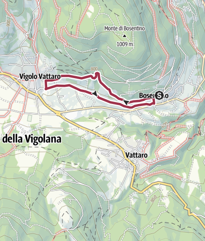 Map / From Bosentino to Castel Vigolo