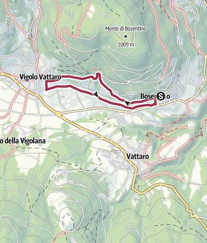Kaart / Da Bosentino a Castel Vigolo