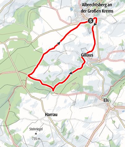 Map / Weg zum Weißen Kreuz