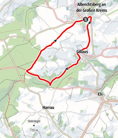 Karte / Weg zum Weißen Kreuz