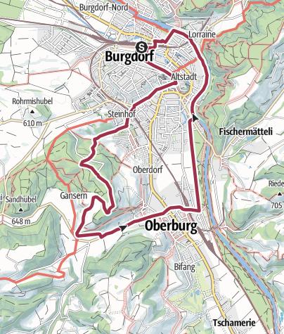 Map / Rundtour von Burgdorf über die Rothöhe