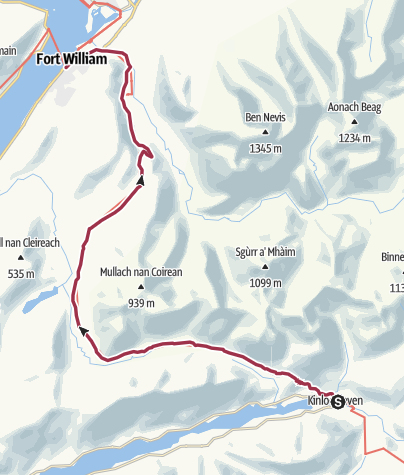 Map / Kinlochleven to Fort William Digital Delivery