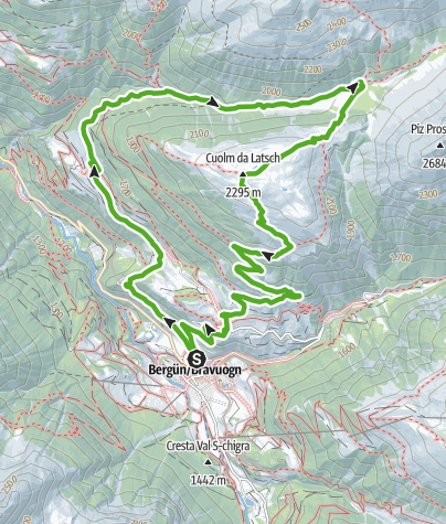 Kaart / Val Stuls - Cuolm da Latsch