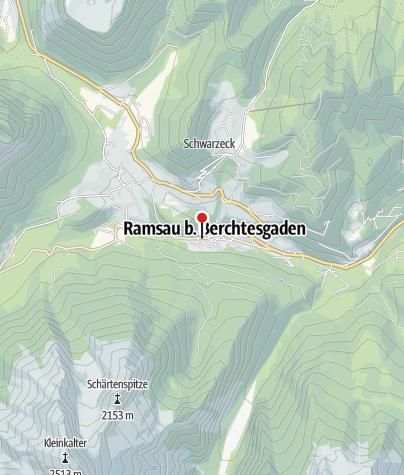 Karte / Pfarrkirche St. Sebastian im Bergsteigerdorf Ramsau