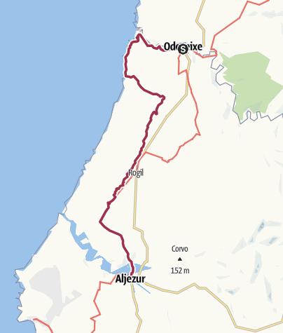 Karte / Etappe 1: Sandstrandwanderung von Odeceixe nach Aljezur