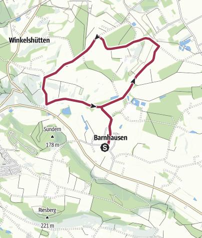 Karte / Schloss Brincke Weg | Rundwanderweg in Borgholzhausen
