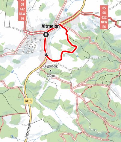 Karte / Kaltenbergweg