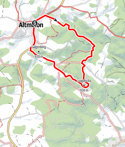 Karte / Luaga-Lucka-Weg