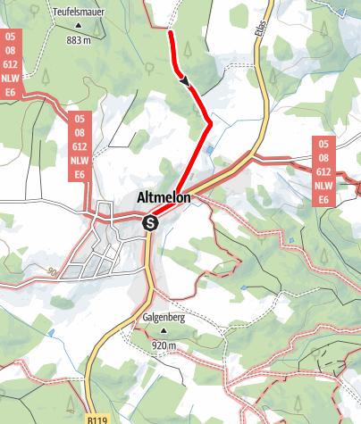 Mapa / Teufelsmauerweg