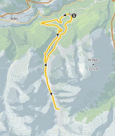 Map / Tarasp - Val Plavna - Tarasp