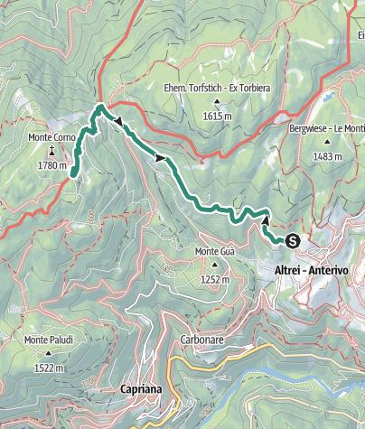 Map / Malga Monte Corno