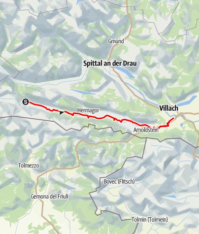 Map / Gailtal Radweg R3 von Kötschach nach Villach