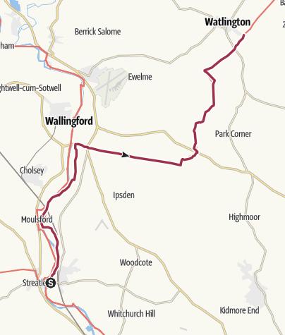 Map / Goring to Watlington