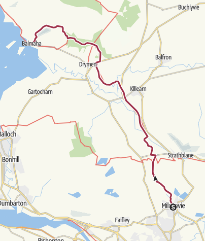 Karte / Milngavie to Balmaha Digital Delivery