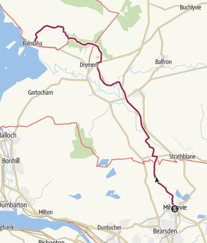Map / Milngavie to Balmaha Digital Delivery