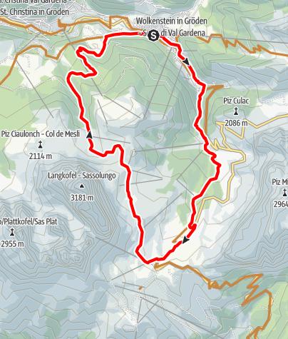 Map / Passo Sella circuit
