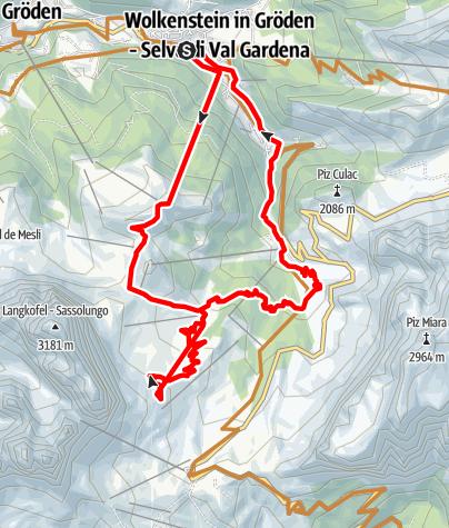 Karte / Plan de Gralba/Sellajoch Tour