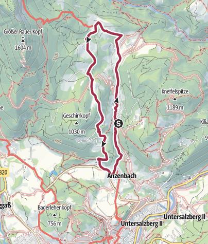 Karte / Gerer Höhenweg und Gerer  Klamm