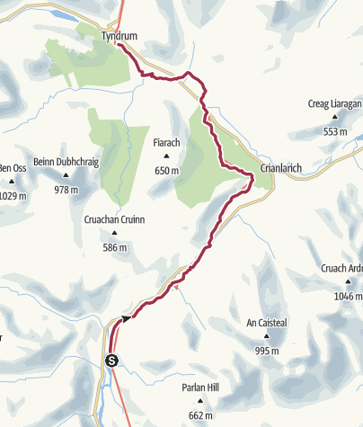 Map / Inverarnan to Tyndrum Digital Delivery