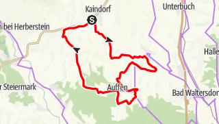 Karte / Ökoregion Kaindorf Genuss-Radrundfahrt GEERO