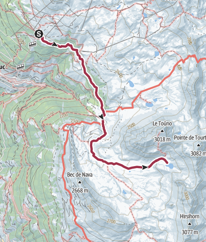 Map / St-Luc, Chandolin et environs : Lac du Toûno n°23
