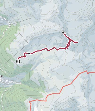 Carte / St-Luc, Chandolin et environs : Tignousa - sommet de la Bella-Tola n°24