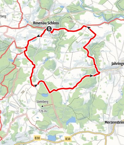 Mapa / Rundwanderweg Schloss Rosenau