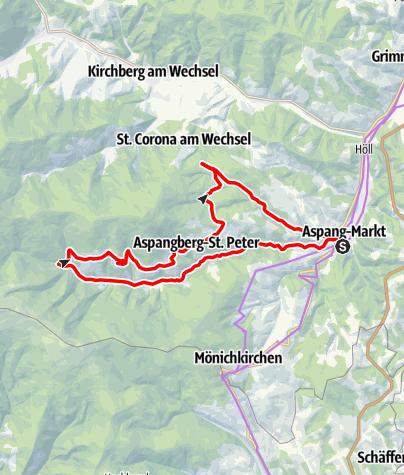 Térkép / Wechselroute E-Bike
