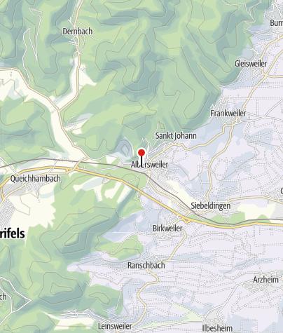 Karte / Mineraliensammlung im Rathaus Albersweiler