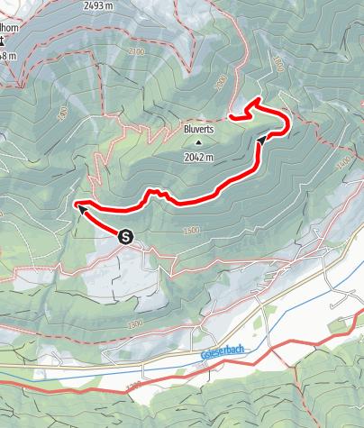 Kaart / Wanderung zur Houfahitte (1883m)