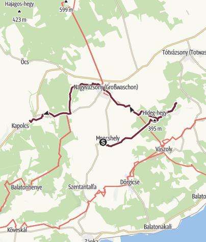 Térkép / Fjällräven Vándortúra 2019 - 2. nap, hosszú táv