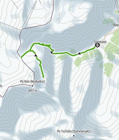 Map / Samnaun Dorf – Zeblasjoch – Sulner Gletscher