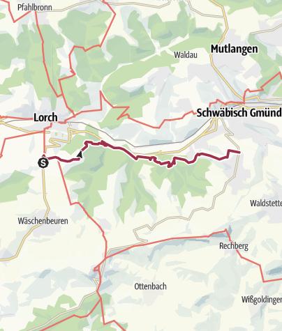 Karte / RemstalWeg Etappe 4: von Unterkirneck nach Straßdorf