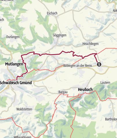 Karte / RemstalWeg Etappe 7: von Mögglingen nach Schwäbisch Gmünd