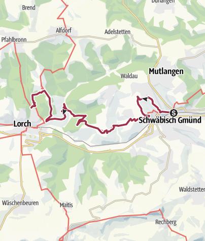 Karte / RemstalWeg Etappe 8: von Schwäbisch Gmünd nach Lorch